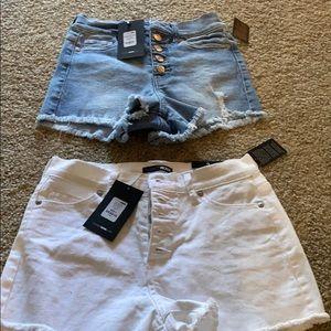 Fashion nova size 3 high wasted shorts